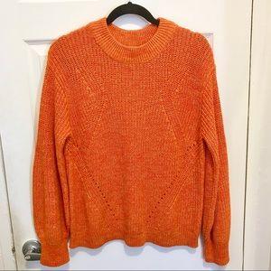 H&M bright orange knit sweater